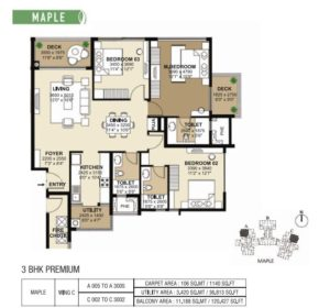 shapoorji-park-west-3-bedroom-plan