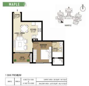 shapoorji-parkwest-1bhk-floor-plan
