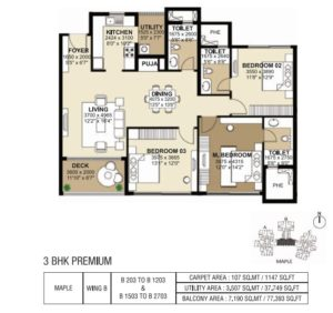 shapoorji-parkwest-3-bedroom-plan