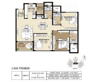 shapoorji-parkwest-3-bedroom-plan