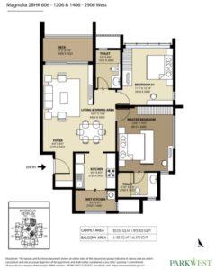 shapoorji-park-west-magnolia-2-bedroom-floor-plan